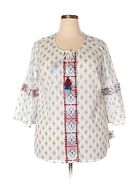 Karen Scott 3/4 Sleeve Blouse Size 1X (Plus)