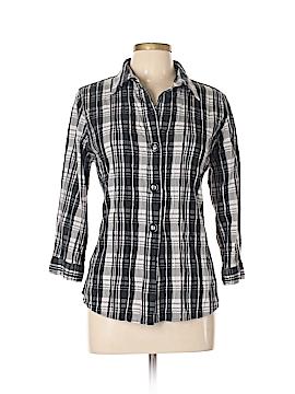 Foxcroft 3/4 Sleeve Button-Down Shirt Size 12