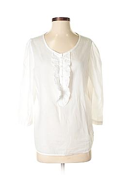 Lands' End 3/4 Sleeve Button-Down Shirt Size 6