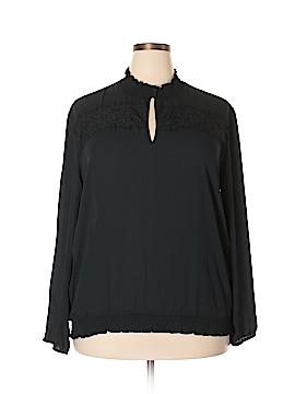 New York & Company Long Sleeve Blouse Size XXL