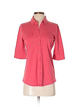 Garnet Hill Short Sleeve Button-Down Shirt Size XS