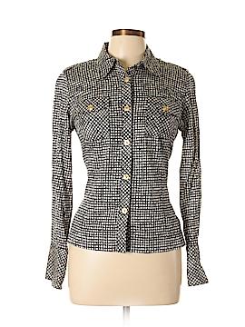 Cheryl Nash Windridge Long Sleeve Button-Down Shirt Size M