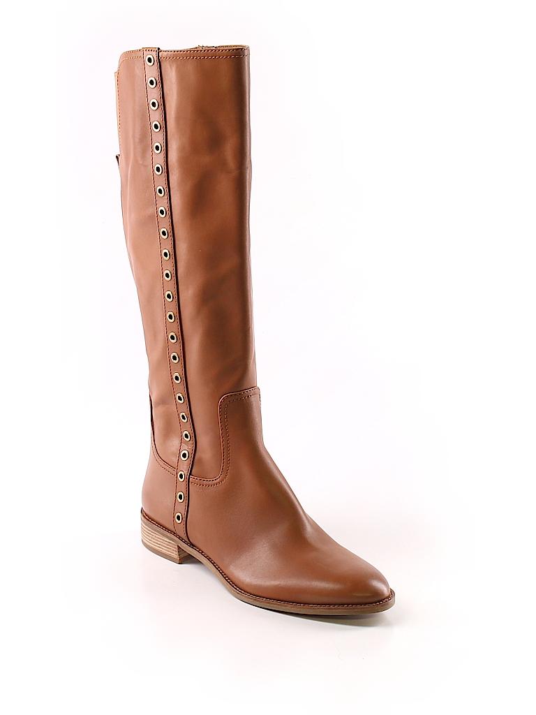 c034496ec426 MICHAEL Michael Kors 100% Leather Solid Brown Boots Size 12 - 76 ...