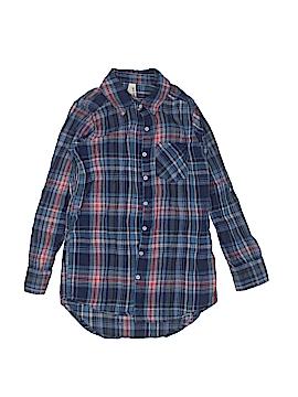 Girl Krazy Long Sleeve Button-Down Shirt Size 8