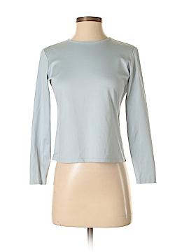 Lafayette 148 New York Long Sleeve T-Shirt Size 4 (Petite)