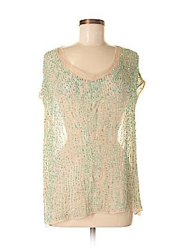 Parker Short Sleeve Silk Top Size M
