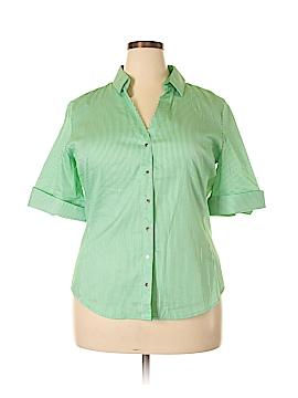 7th Avenue Design Studio New York & Company 3/4 Sleeve Button-Down Shirt Size XL