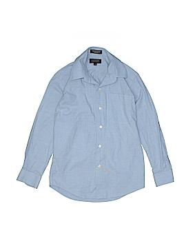 Bergamo New York Long Sleeve Button-Down Shirt Size 8