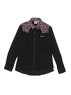 Cruel Girl Long Sleeve Button-Down Shirt Size 12