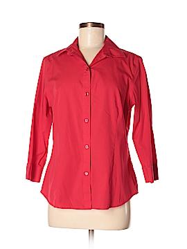 Jones New York Signature 3/4 Sleeve Button-Down Shirt Size M