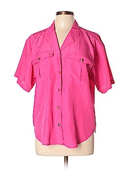 Josephine Short Sleeve Button-Down Shirt Size 10