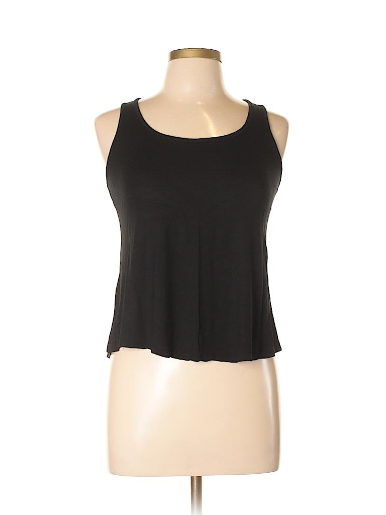 Ambiance Apparel 100 Rayon Lace Black Sleeveless Top Size M 88