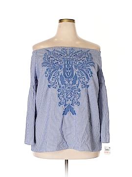 Ideology 3/4 Sleeve Blouse Size 3X (Plus)