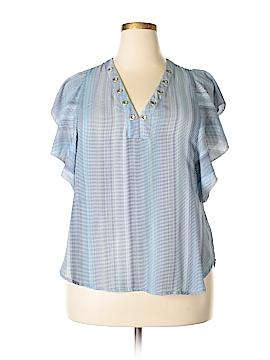 A.n.a. A New Approach Short Sleeve Blouse Size XL (Plus)