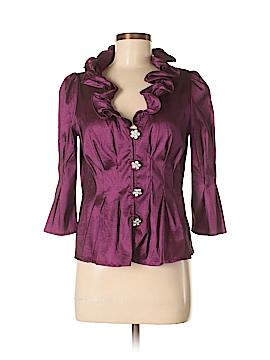 Chetta B 3/4 Sleeve Button-Down Shirt Size 4