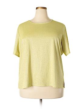 Susan Graver Short Sleeve T-Shirt Size 2X (Plus)