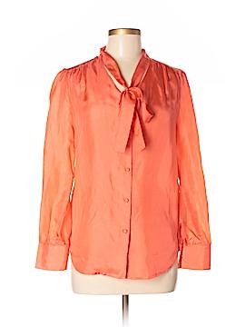 Patrizia Luca Long Sleeve Silk Top Size S