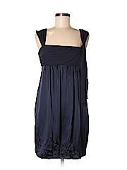 adf8b732a0c Taylor Solid Dark Blue Casual Dress Size 14W - 43% off