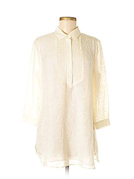 J. McLaughlin Long Sleeve Silk Top Size M
