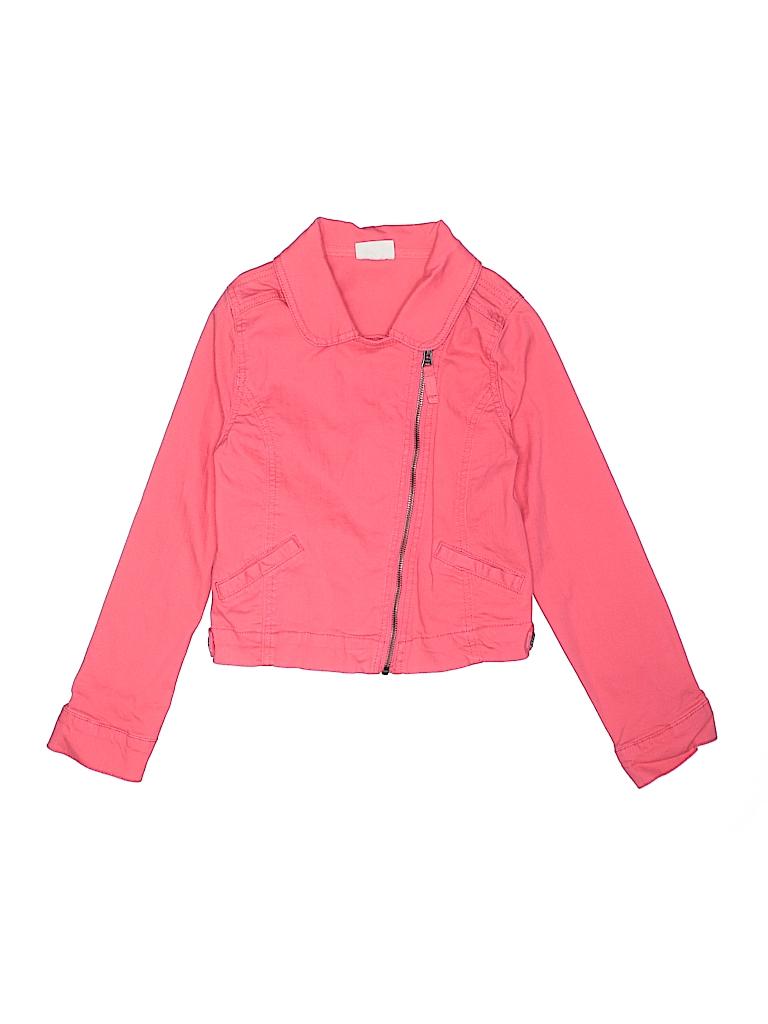 70163e948 Crazy 8 Solid Pink Denim Jacket Size 10 - 66% off