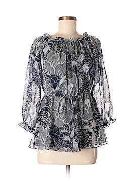 Diane von Furstenberg 3/4 Sleeve Silk Top Size 8