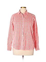 Joe Fresh Women Long Sleeve Button-Down Shirt Size L