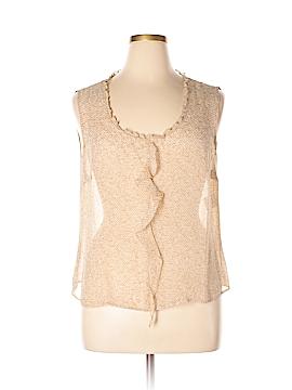 Escada Sleeveless Silk Top Size 46 (EU)