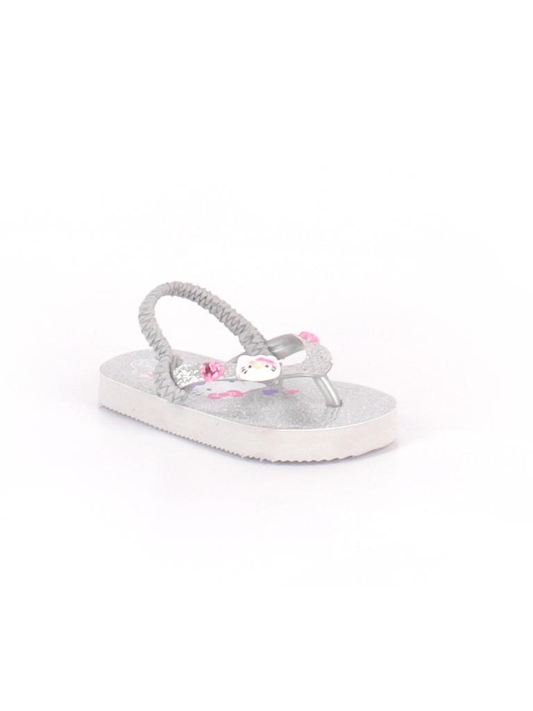 2d6c14bfd Hello Kitty Metallic Silver Flip Flops Size 5 - 6 Kids - 38% off ...