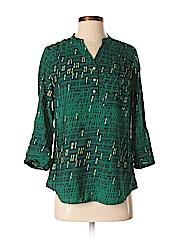 A.n.a. A New Approach Women Short Sleeve Button-Down Shirt Size S