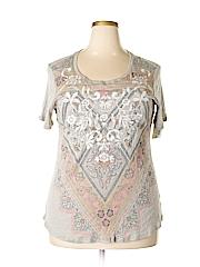 Style&Co Women Short Sleeve Top Size 0X (Plus)