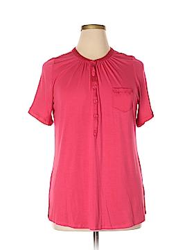 Cynthia Rowley for T.J. Maxx Short Sleeve Henley Size 1X (Plus)