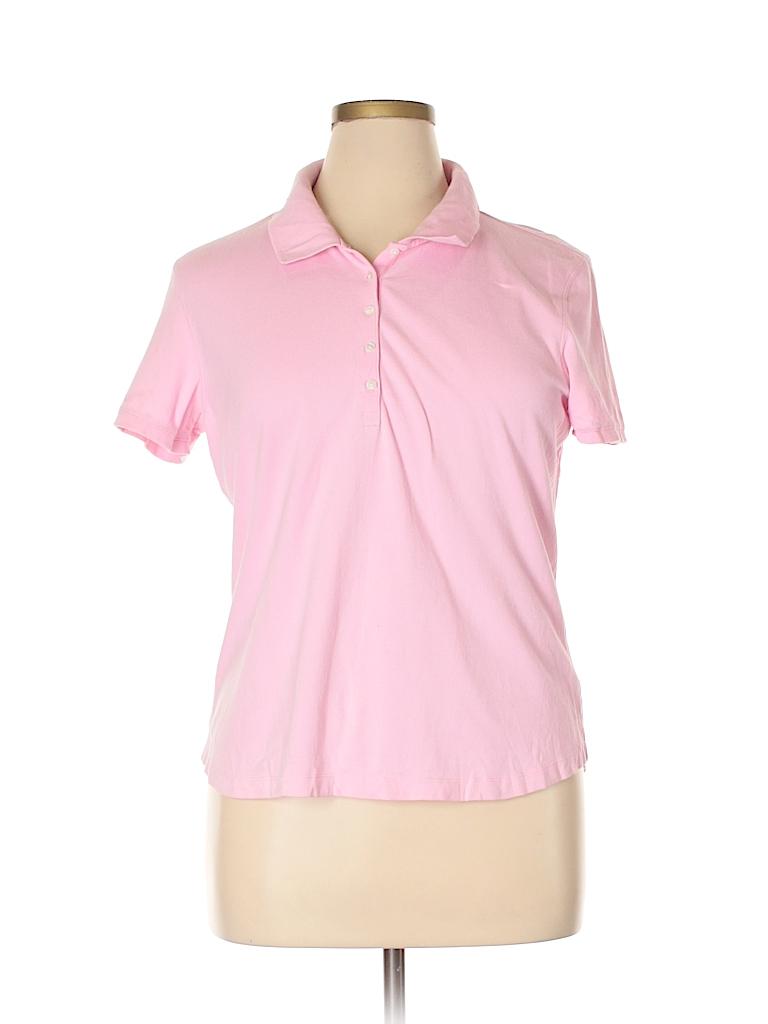 St. John's Bay Women Short Sleeve Polo Size XL (Petite)