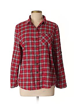 C&C California 3/4 Sleeve Button-Down Shirt Size L