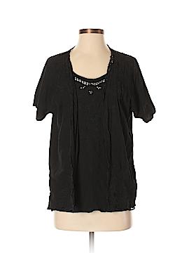 Jane Ashley Short Sleeve Blouse Size S