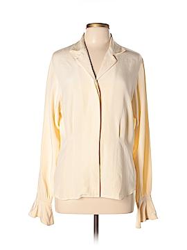 Nordstrom Studio 121 Long Sleeve Silk Top Size 10