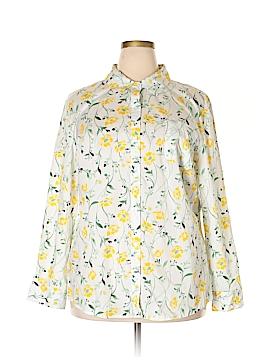 Karen Scott Long Sleeve Button-Down Shirt Size XXL