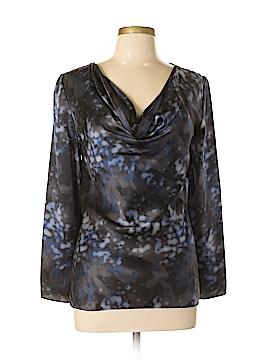 Armani Collezioni Long Sleeve Silk Top Size 10