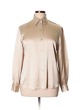 Linda Allard Ellen Tracy Long Sleeve Silk Top Size 14