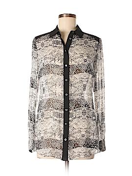 Karen Millen Long Sleeve Silk Top Size 6