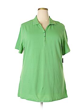 Karen Scott Short Sleeve Polo Size 0X (Plus)