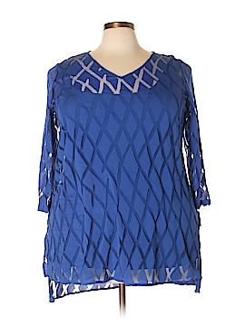 Alfani 3/4 Sleeve Blouse Size 3X (Plus)