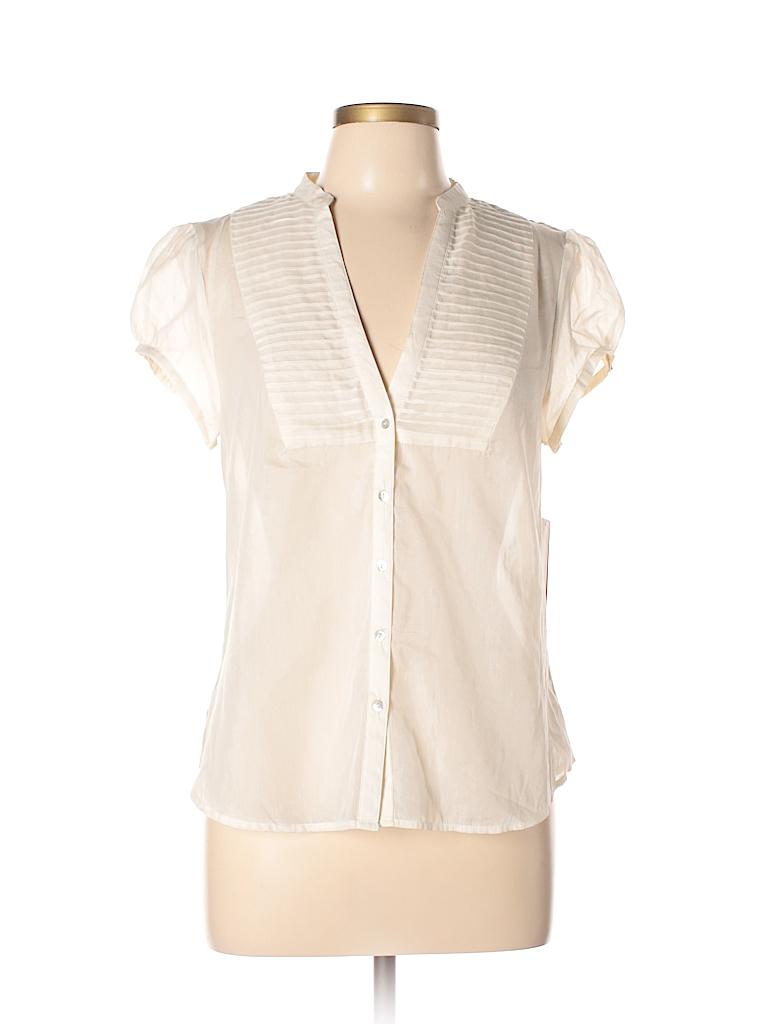 Zara Basic Women Short Sleeve Blouse Size L
