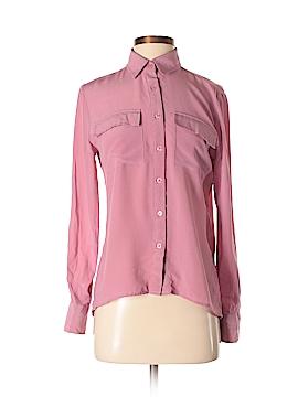 Wyatt Long Sleeve Silk Top Size S