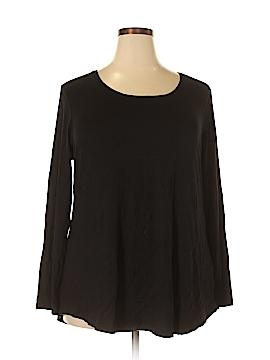 JM Collection Long Sleeve T-Shirt Size 2X (Plus)
