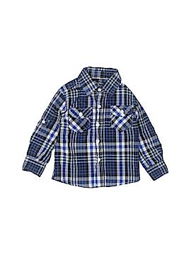 Swiss Cross Short Sleeve Button-Down Shirt Size 18 mo