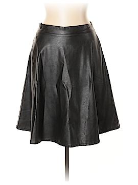 Iris Los Angeles Faux Leather Skirt Size L