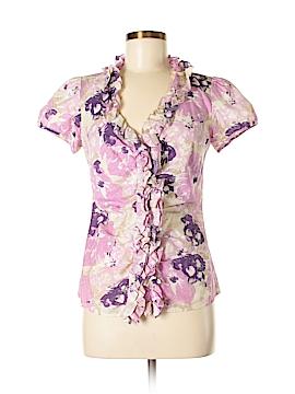 Ann Taylor LOFT Outlet Short Sleeve Button-Down Shirt Size 2