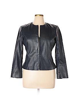 Dana Buchman Leather Jacket Size 14 (Petite)