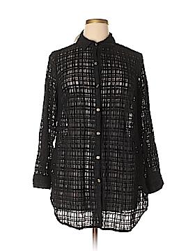 JM Collection Long Sleeve Blouse Size 1X (Plus)