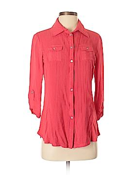 Nurture 3/4 Sleeve Button-Down Shirt Size S